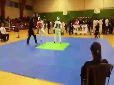 championnat d'auvergne Taekwondo combat -58kg 2015